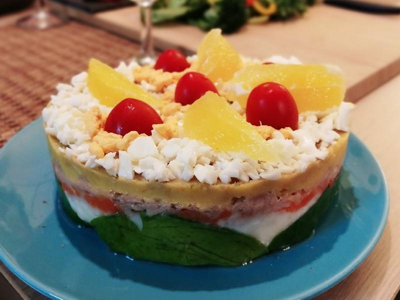 健康沙拉蛋糕