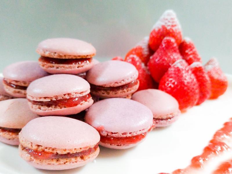 天然草莓法式馬卡龍 Macaron