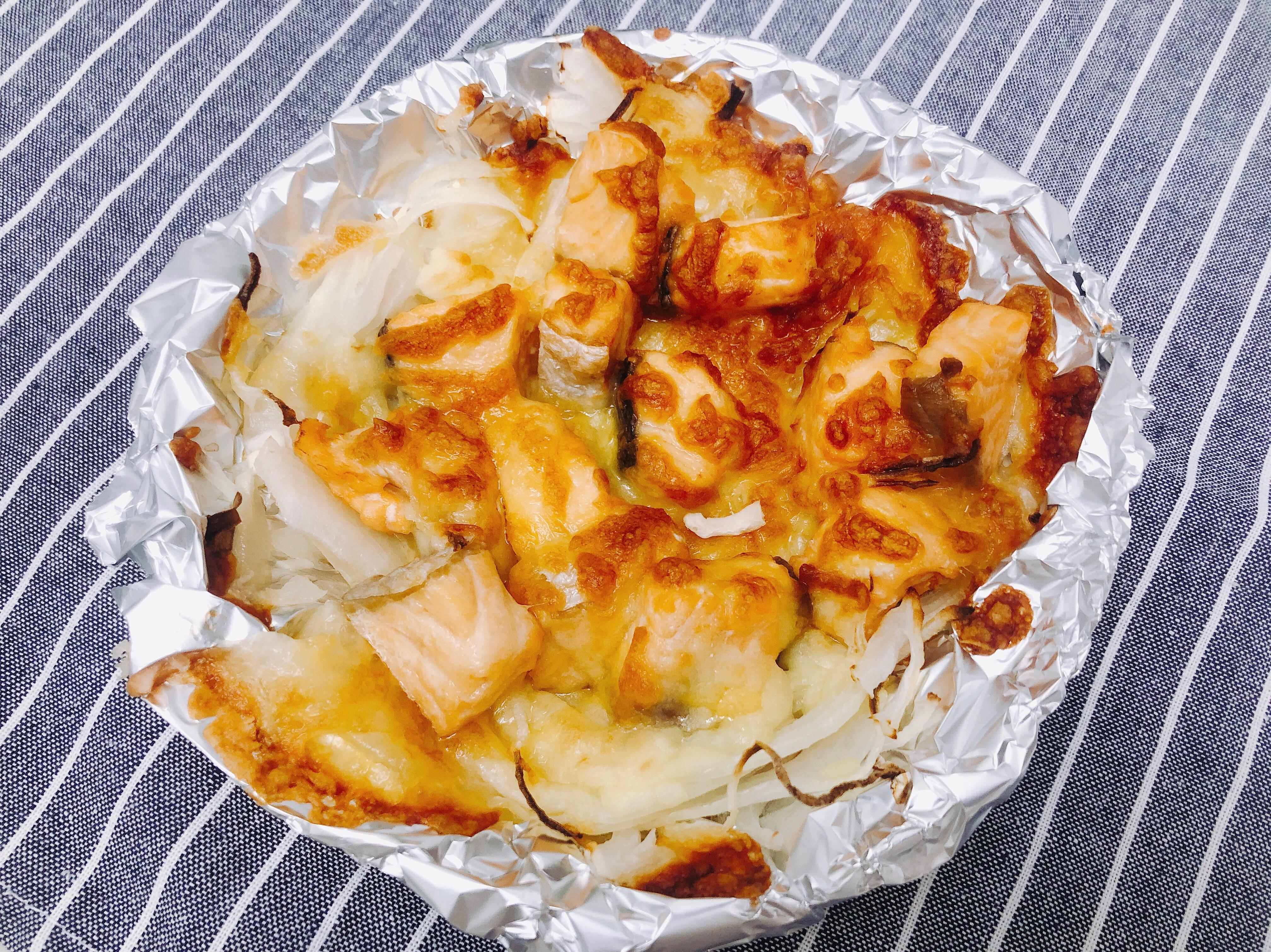 《氣炸鍋料理》焗烤鮭魚