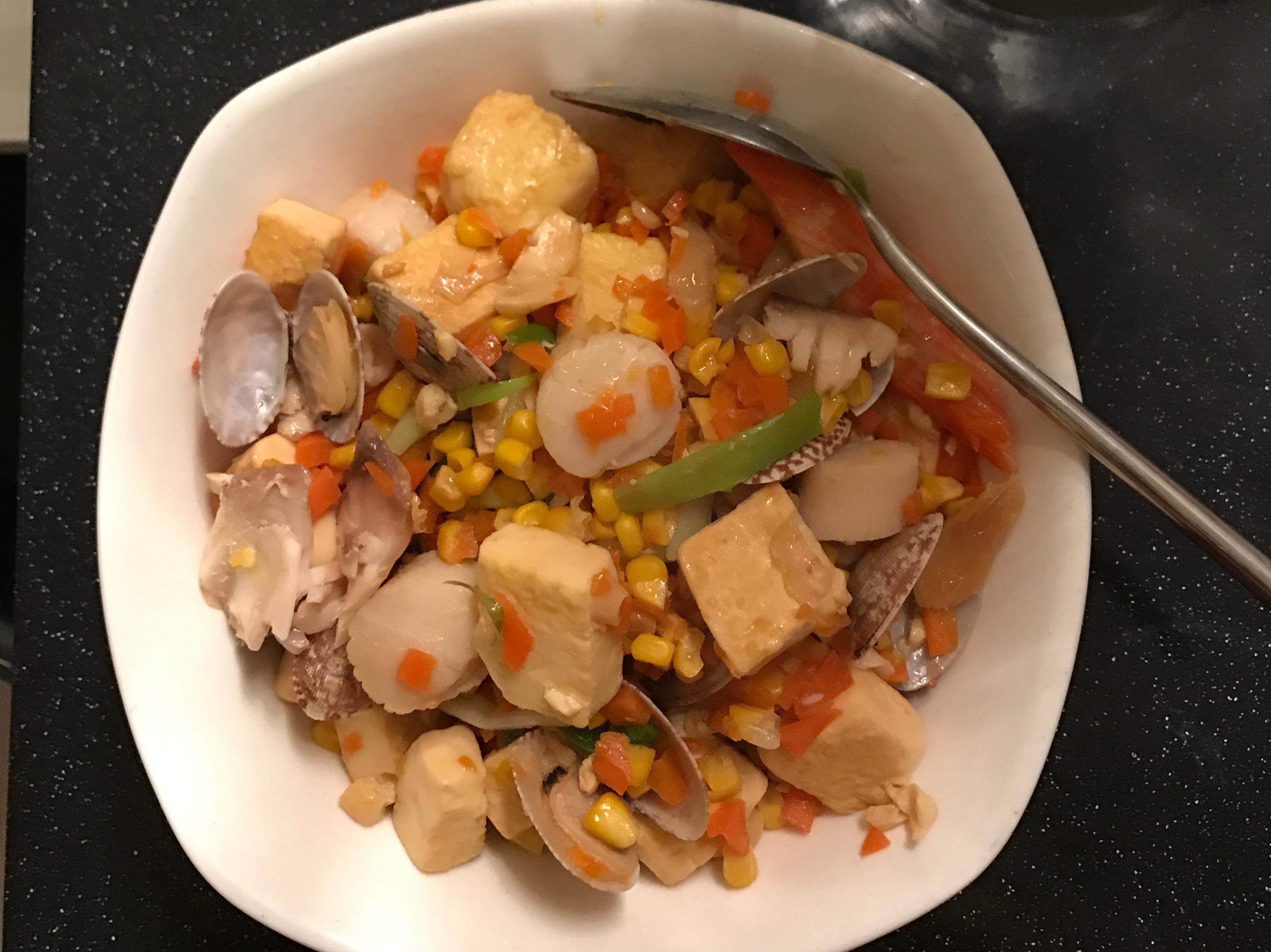 海鮮蛋豆腐
