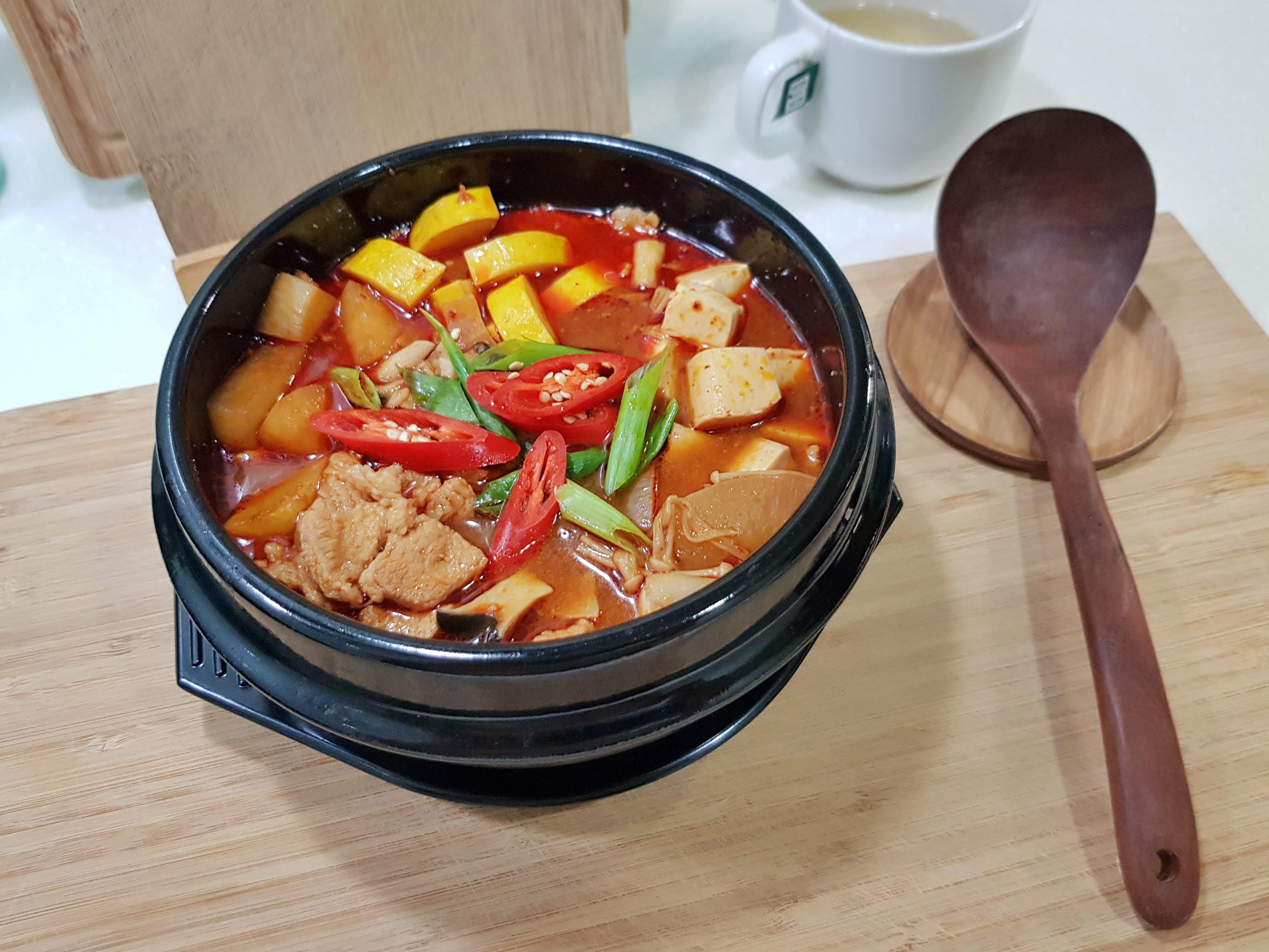 韓式豬五花大醬湯