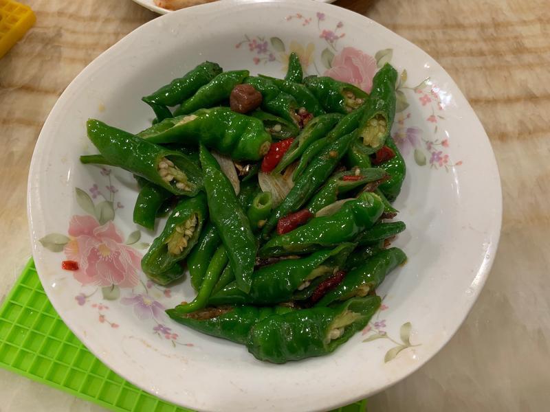 糯米椒炒干貝醬