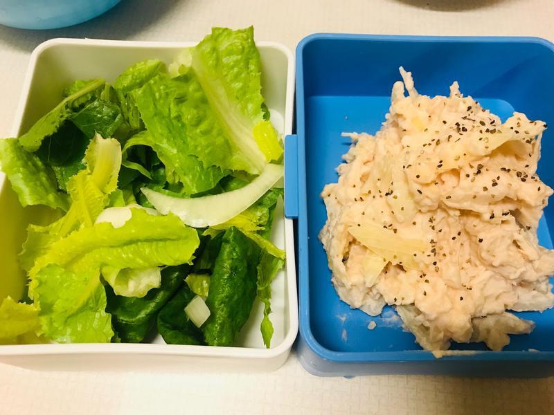鮭魚子馬鈴薯雞絲沙拉