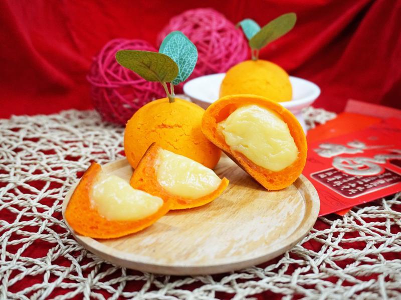 過年甜點-橘子麻糬造型麵包