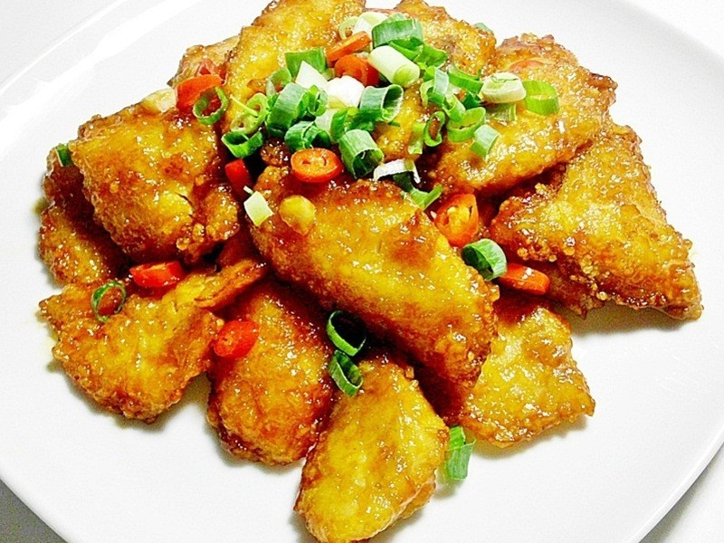 茄汁蜜魚片
