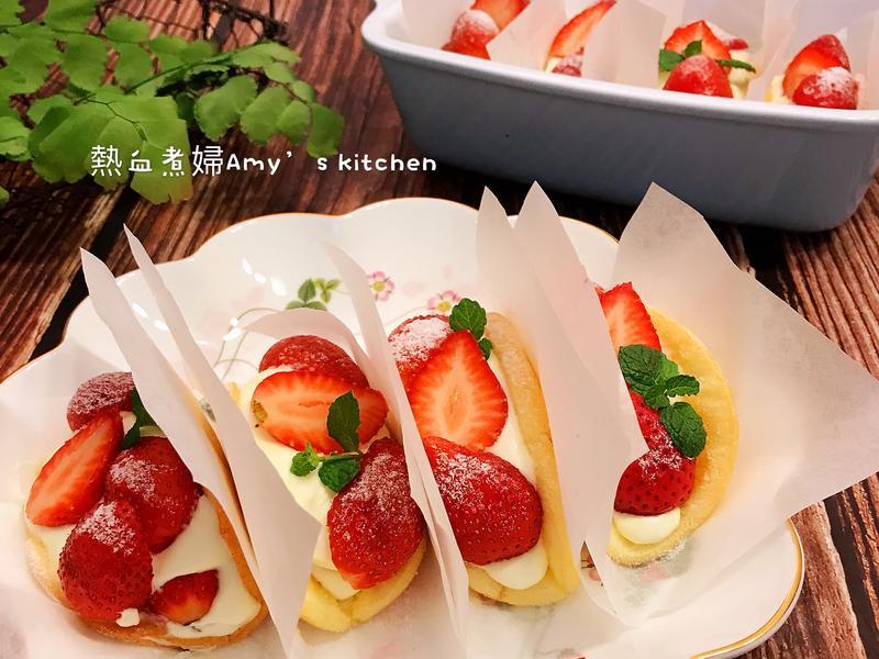韓國話題甜點~草莓蛋糕捲