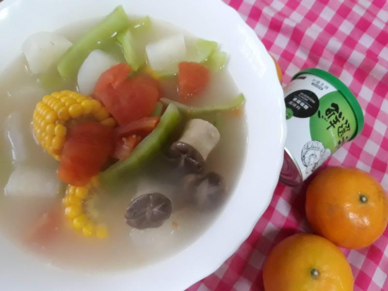 年節上大菜-素食-五形蔬菜湯