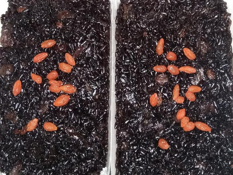 酒香黑紫米糕
