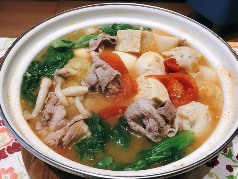蕃茄豬肉味噌鍋