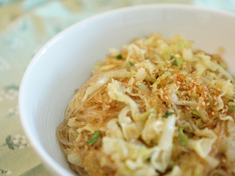 高麗菜炒冬粉