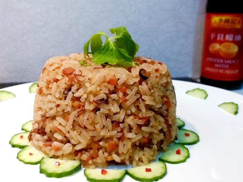 快速美味【蠔油香菇油飯】糯米免泡水/年菜