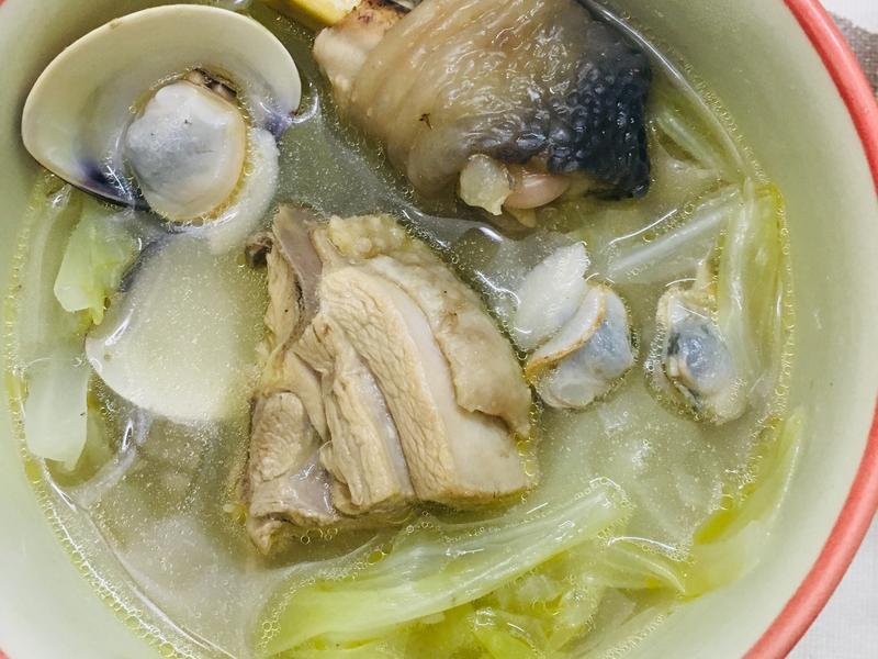 [低醣飲食]蔬菜蛤蜊雞湯