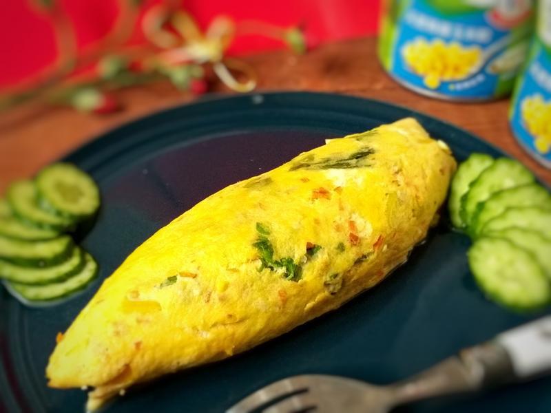 芹菜玉米歐姆蛋