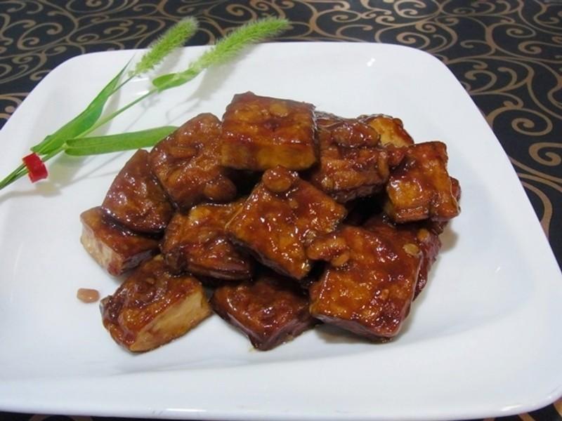 豆瓣醬燒五香豆干
