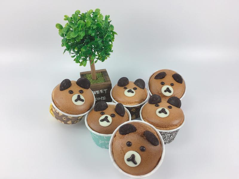 優格蜂蜜小熊杯子蛋糕