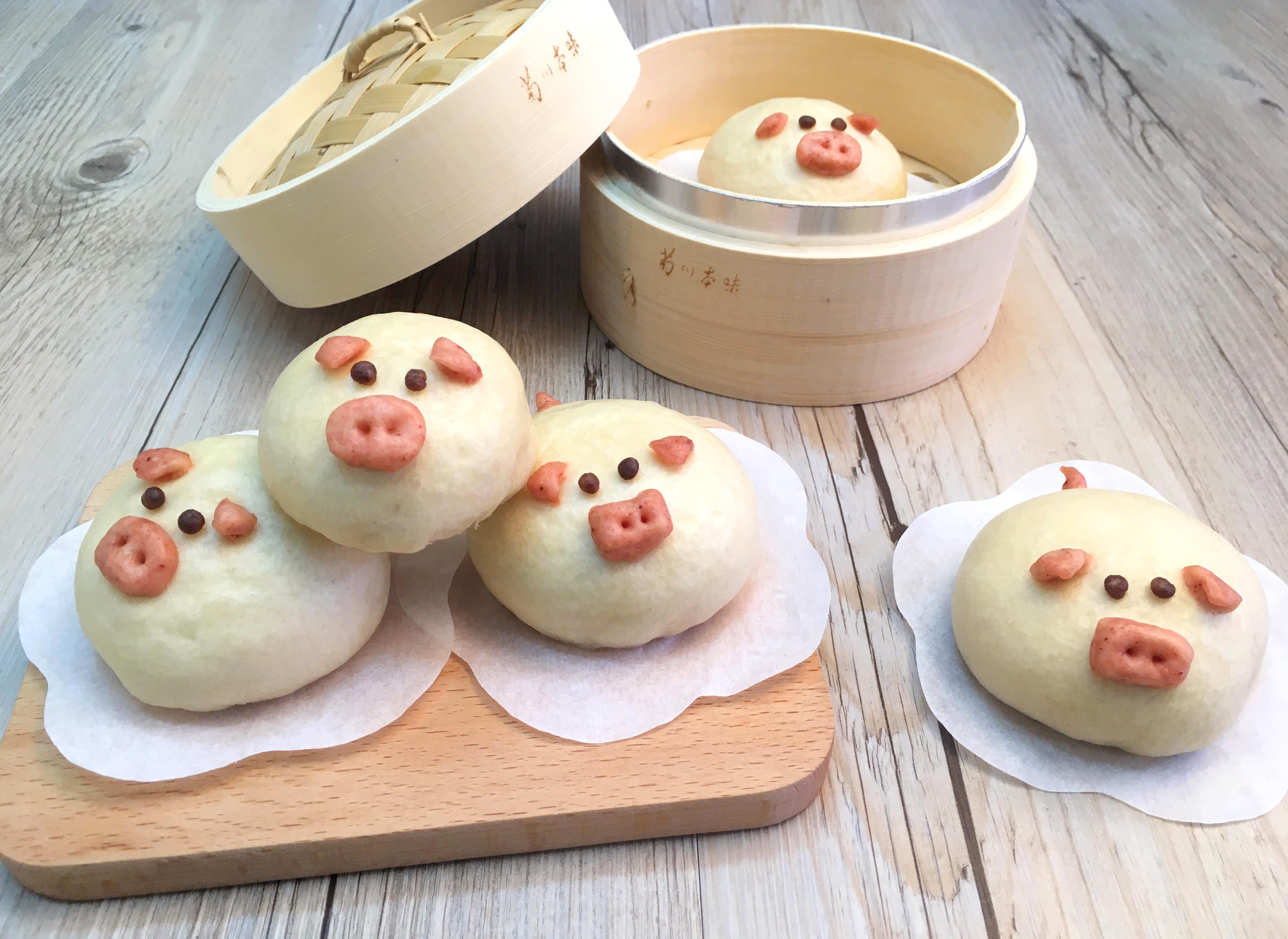 年菜造型饅頭!【Q彈小豬饅頭】
