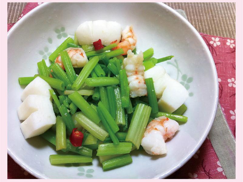 清炒芹菜海鮮