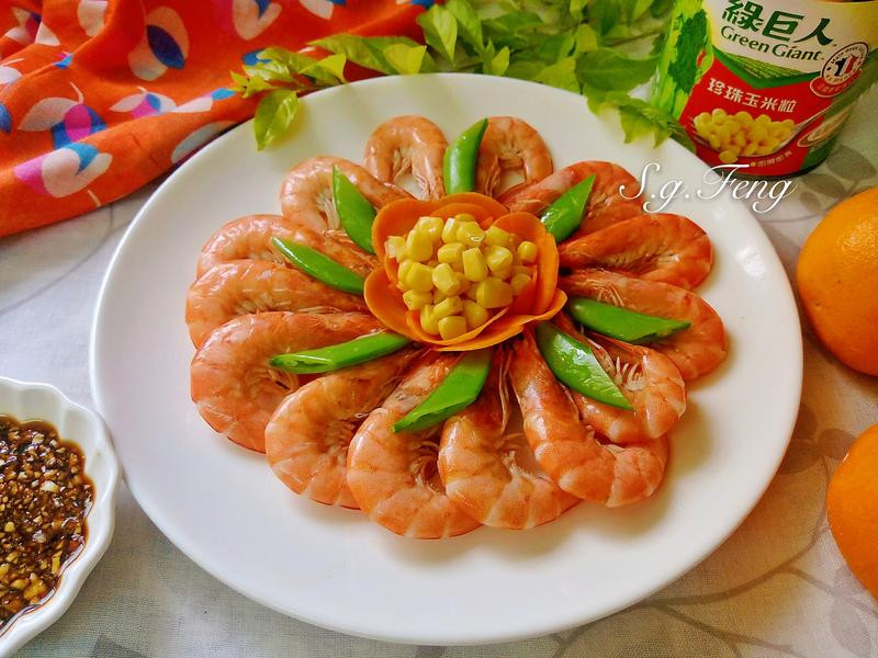 花開富貴白灼蝦