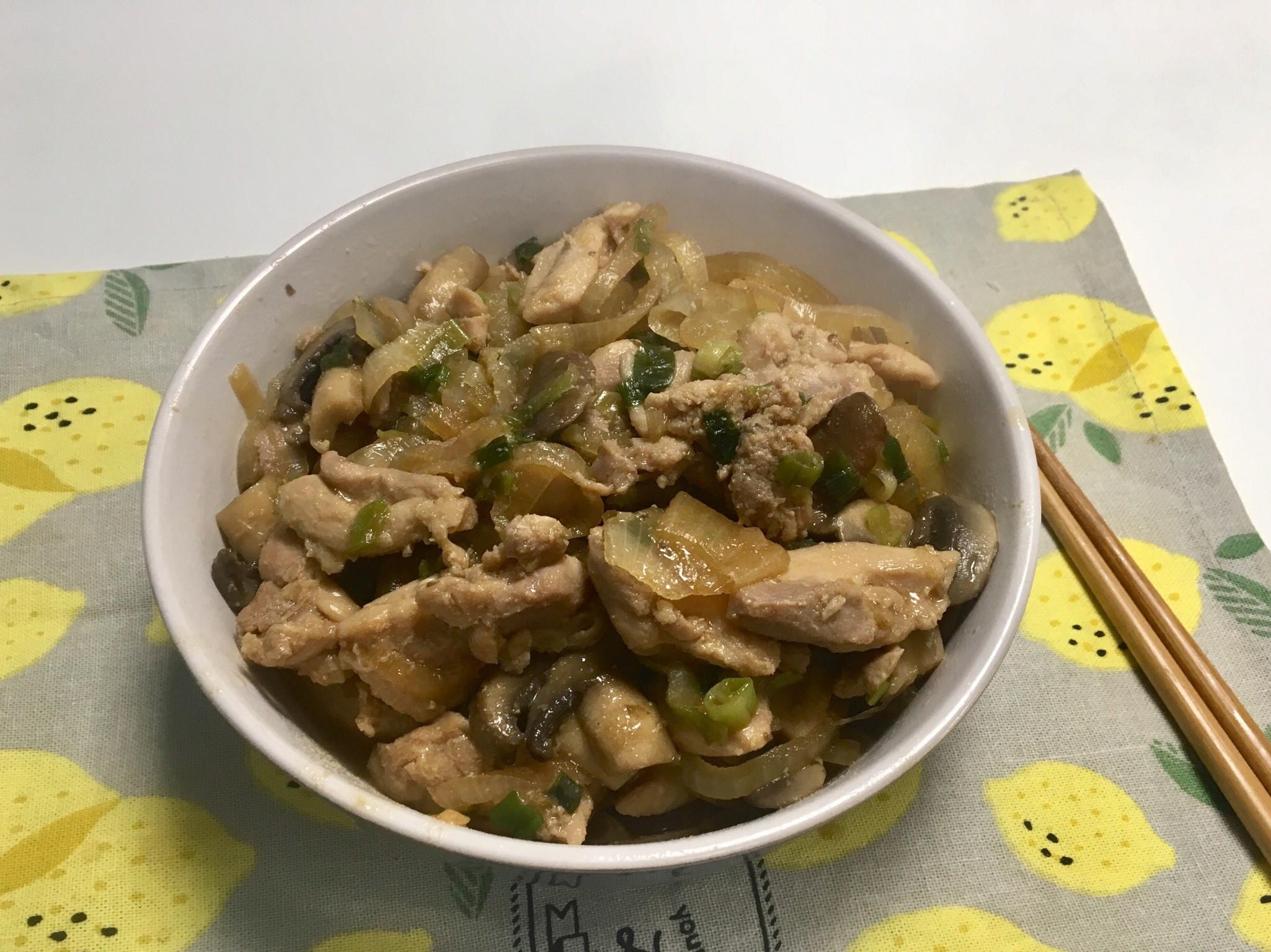 味噌蔥燒蘑菇雞