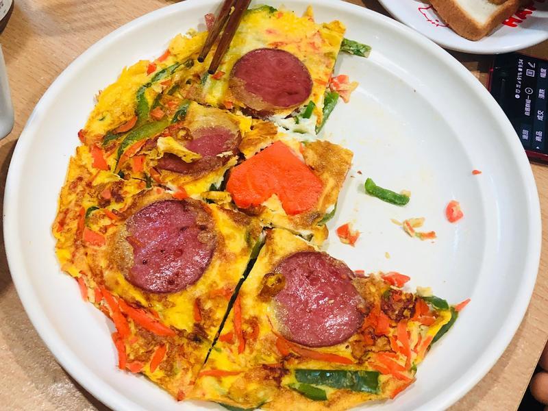 青椒蘿蔔火腿煎蛋