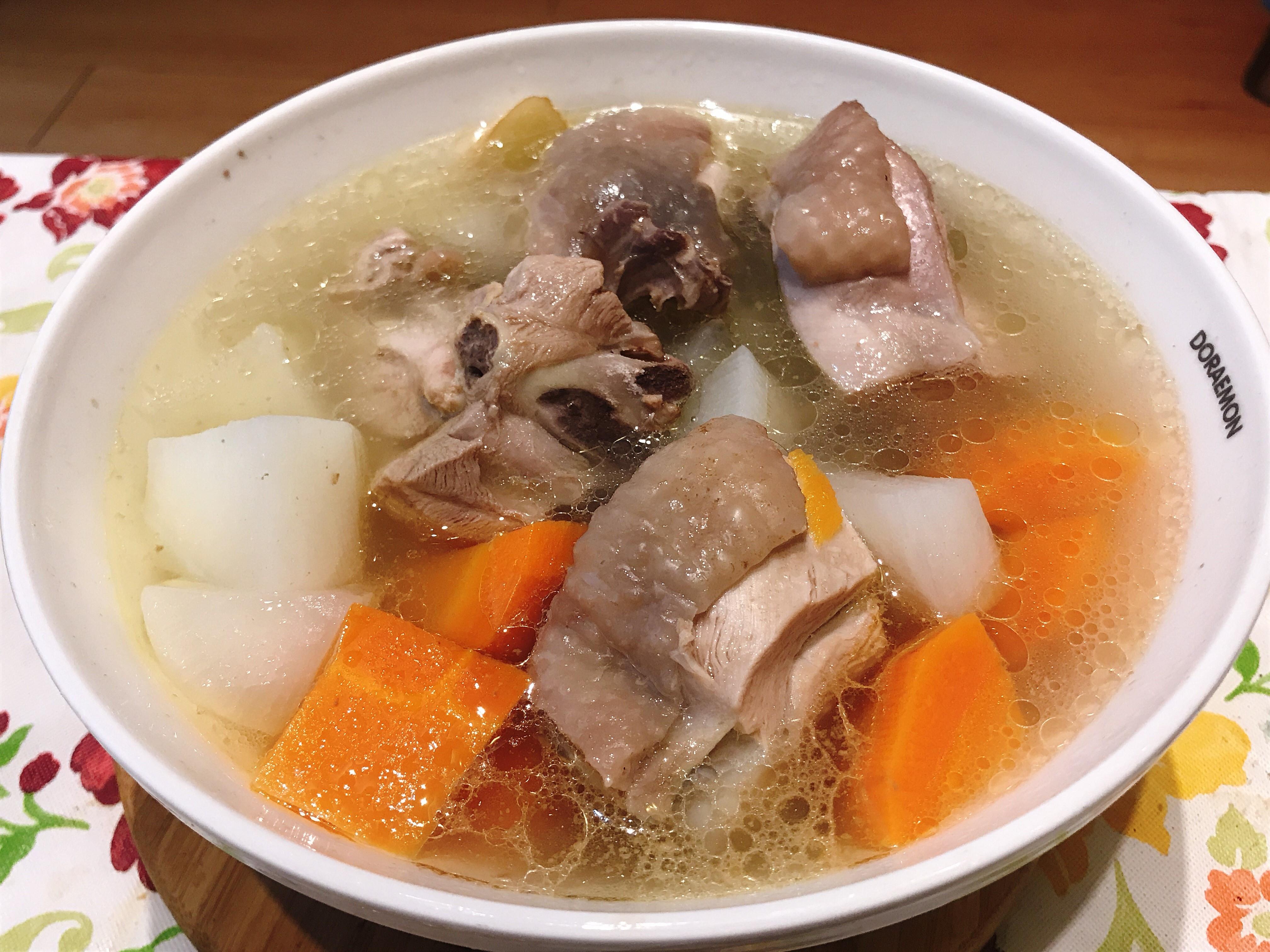 紅白蘿蔔雞湯(電子鍋)