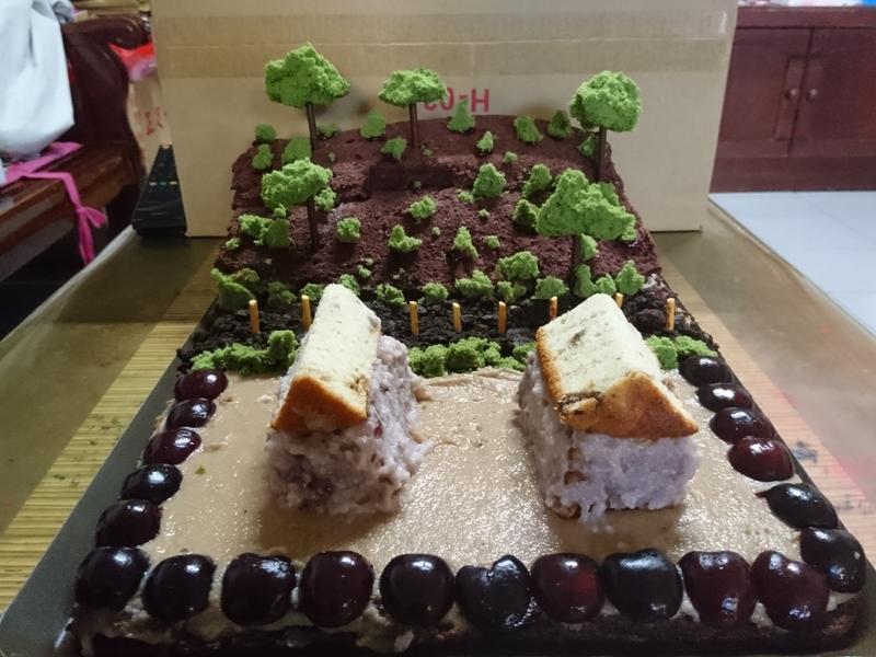 生日蛋糕_我家後面有山坡造型