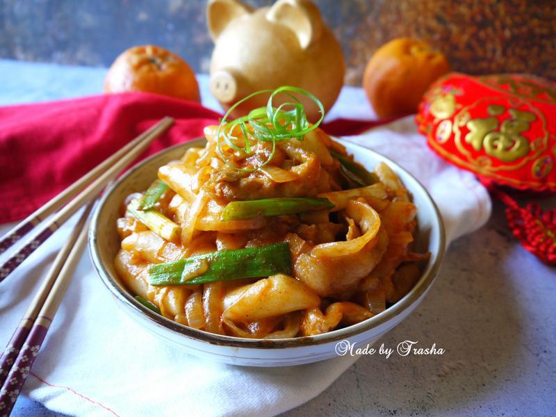 韓式辣炒年糕肉片