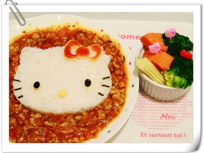 【親子食堂】Hello Kitty義大利肉醬飯飯