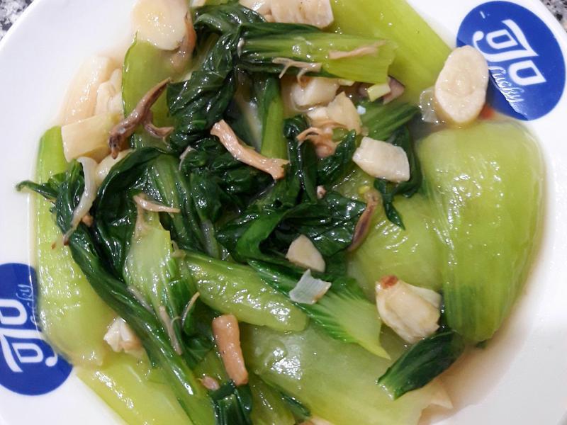 青江菜炒干貝醬