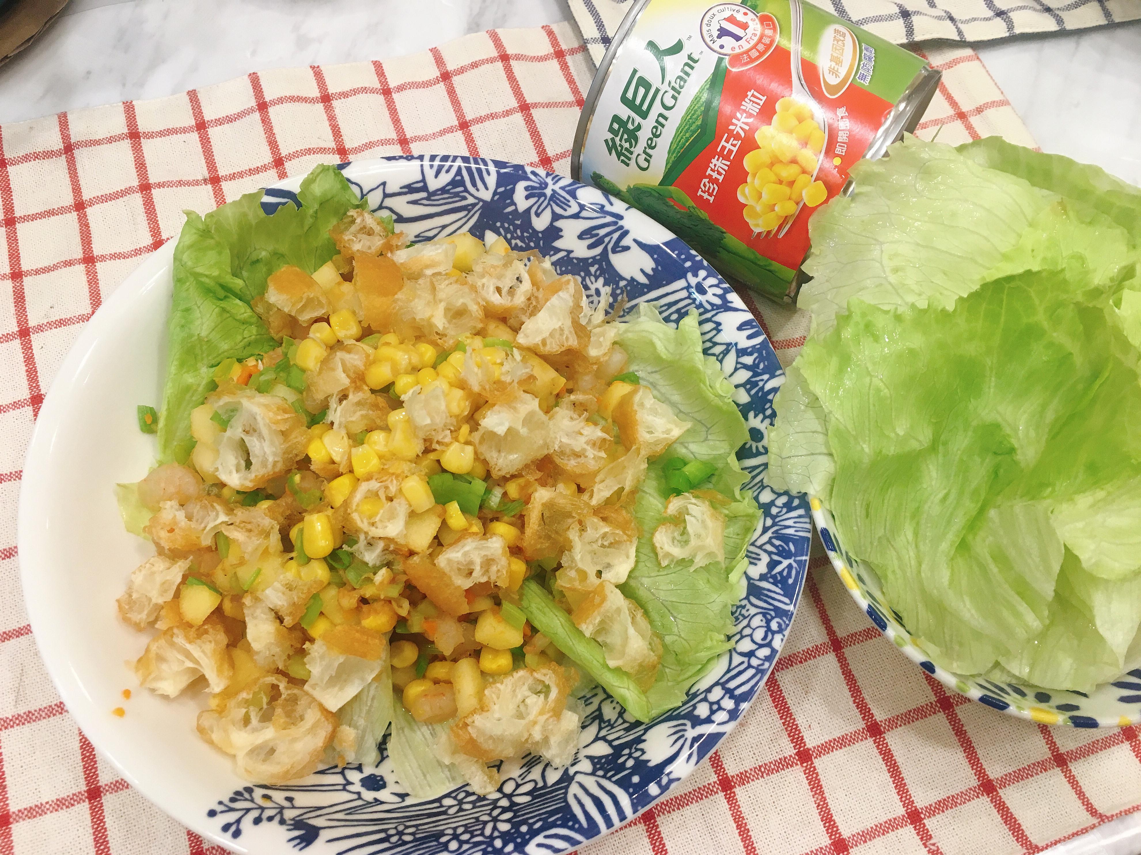 玉米蘋果蝦鬆🦐