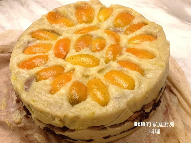 金棗紅豆地瓜泥年糕