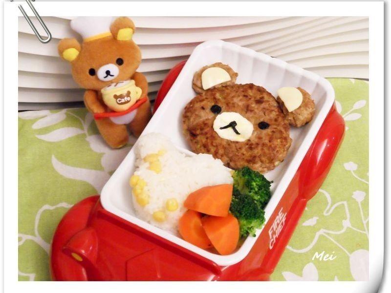 【親子食堂】拉拉熊漢堡排飯飯