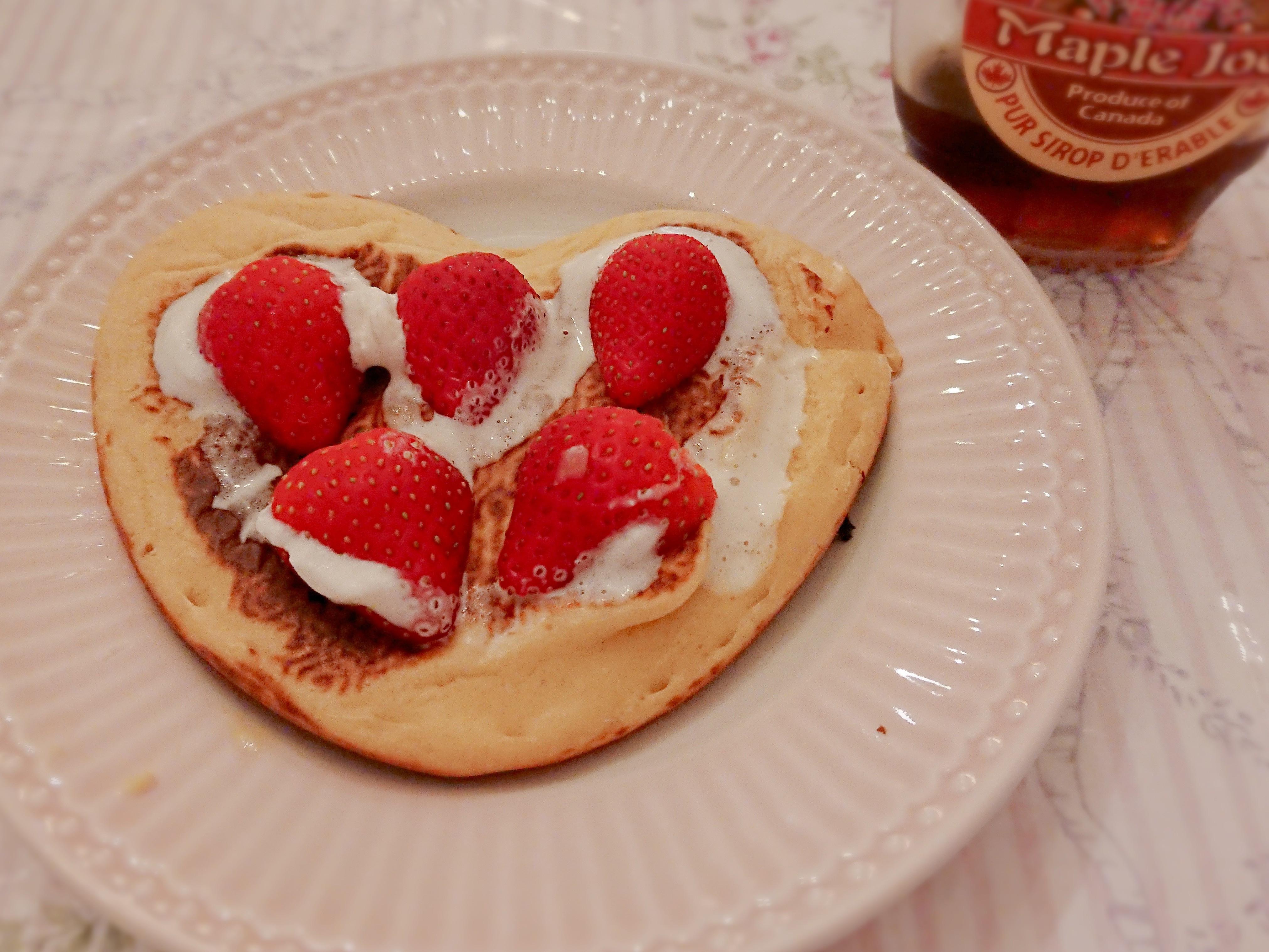 健康美味之草莓鮮奶油鬆餅
