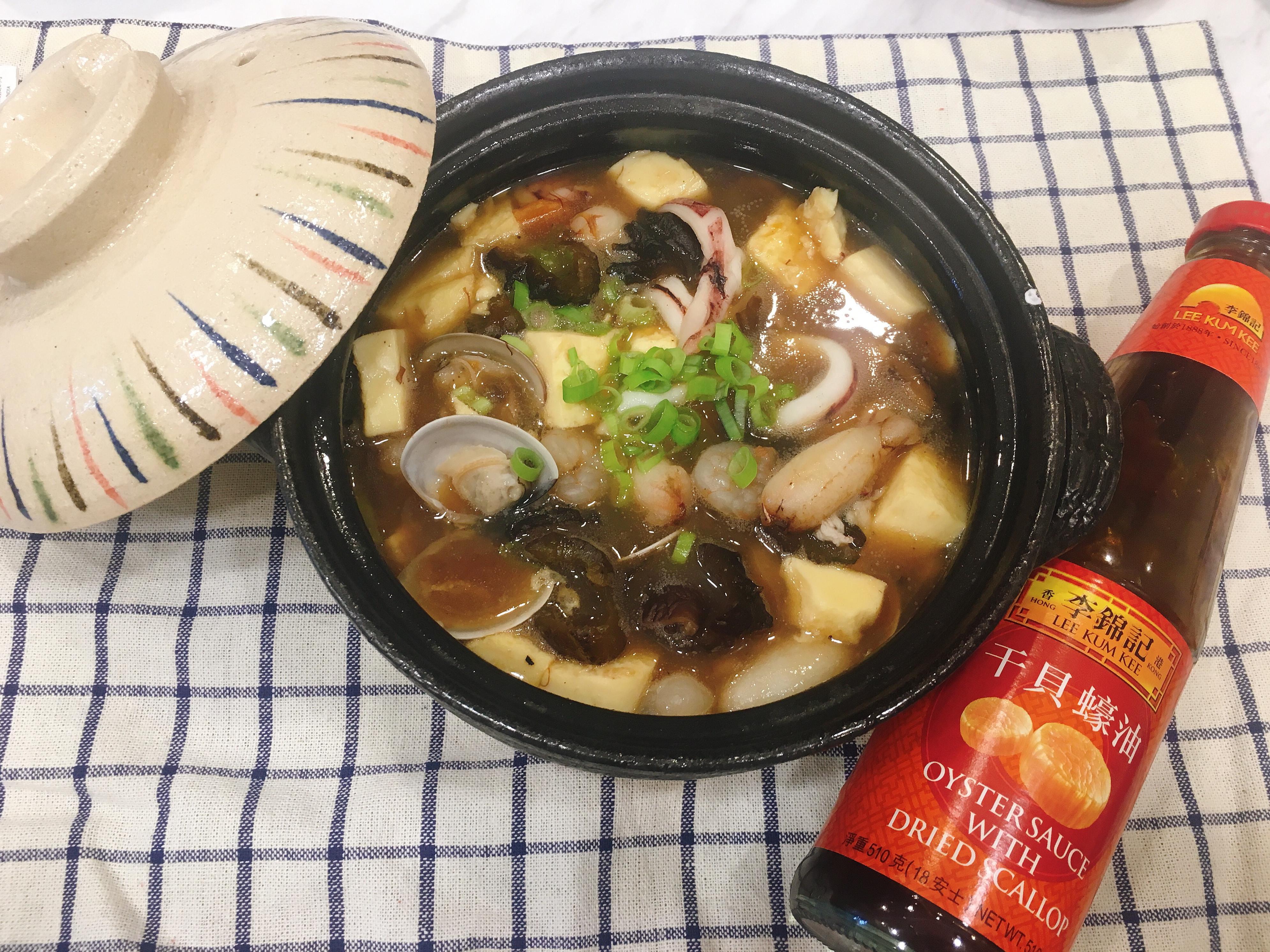 蠔油海鮮豆腐煲🦐