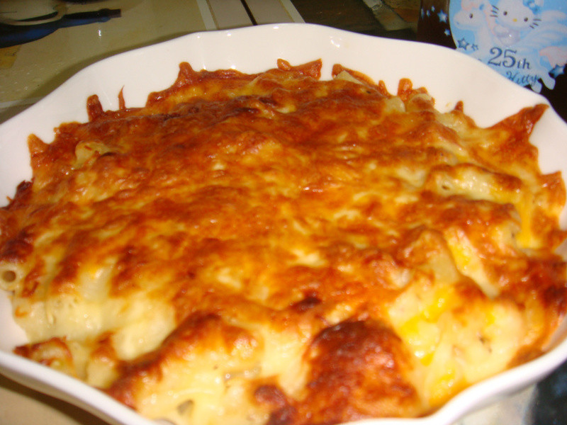 焗烤macaroni cheese