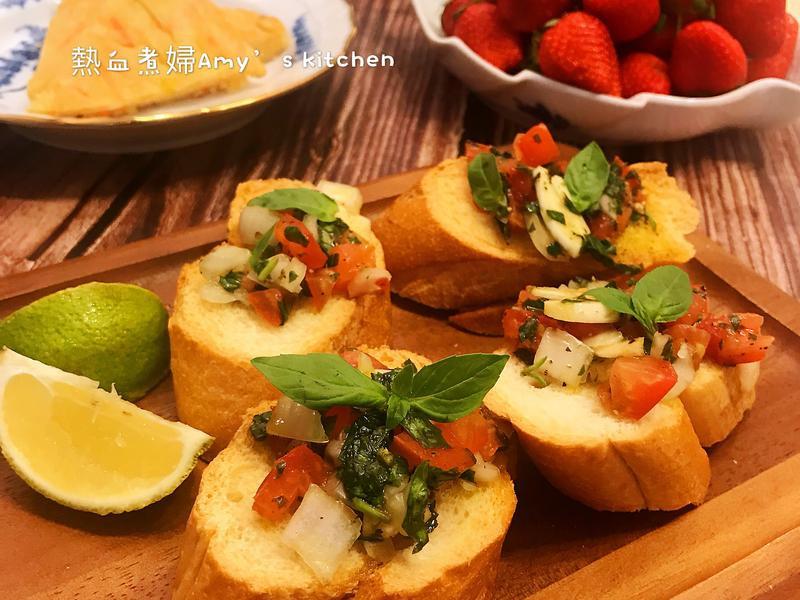 義式番茄洋蔥烤麵包