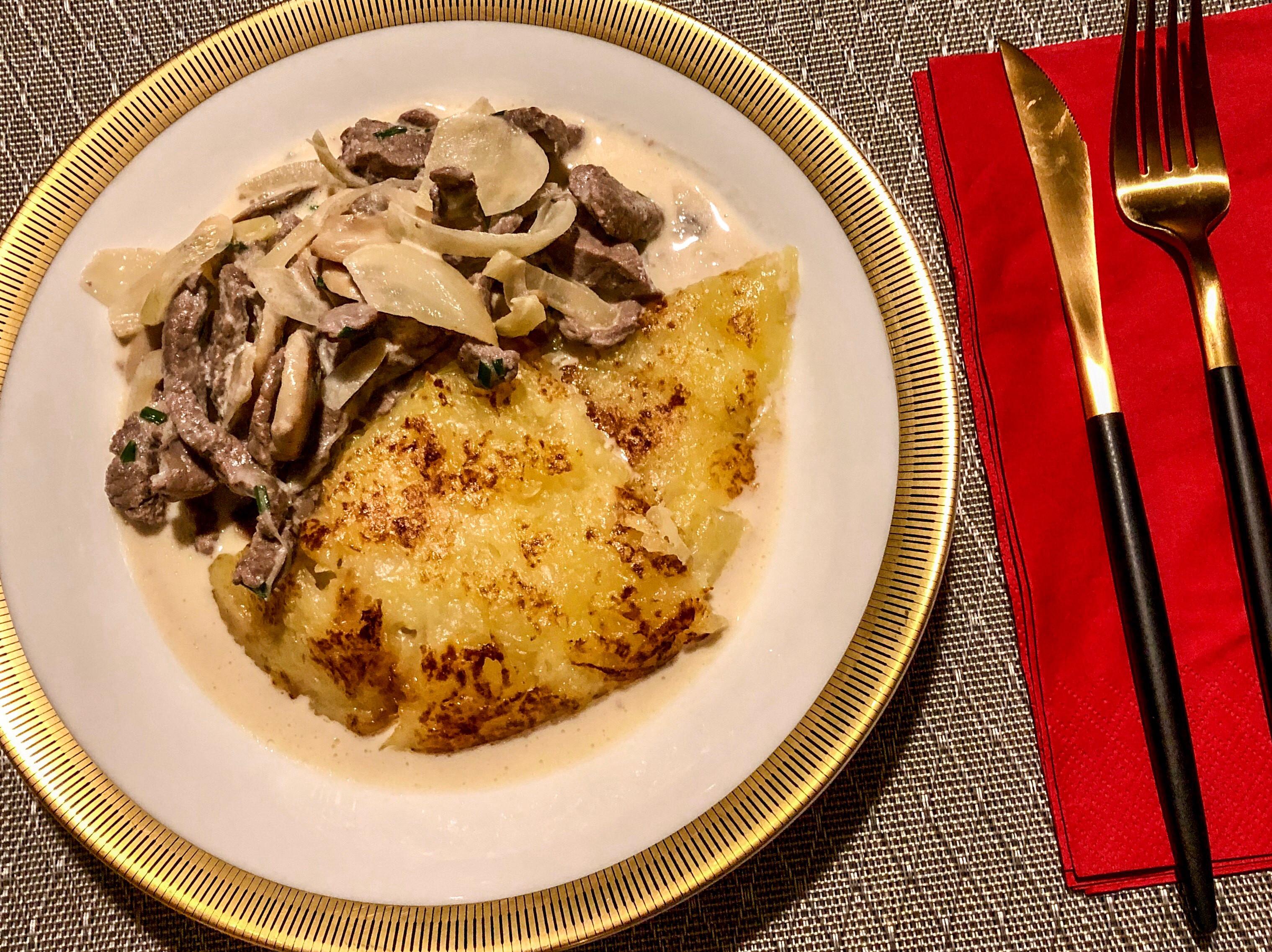 ❚瑞士家常❚簡單料理蘇黎士小牛肉