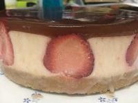免烤箱版草莓乳酪蛋糕