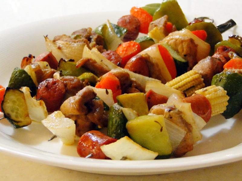 芥末果醬烤肉串