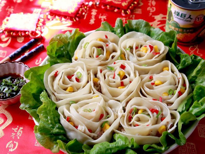 玫瑰花香甜玉米燒賣