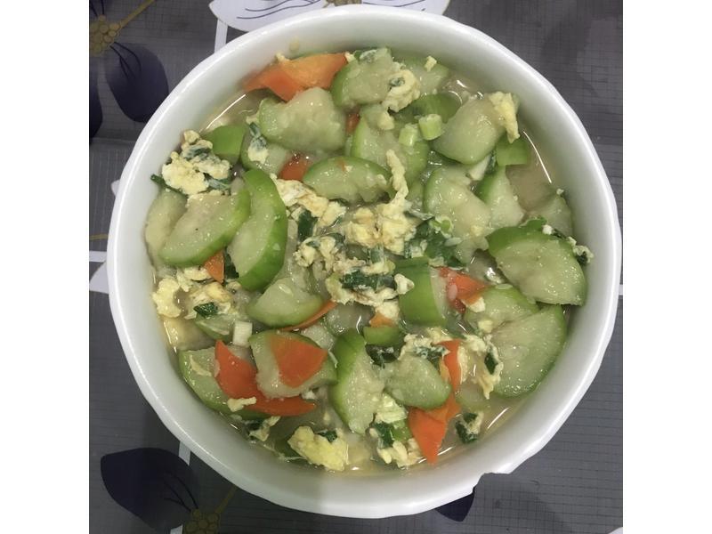 絲瓜炒蔥蛋