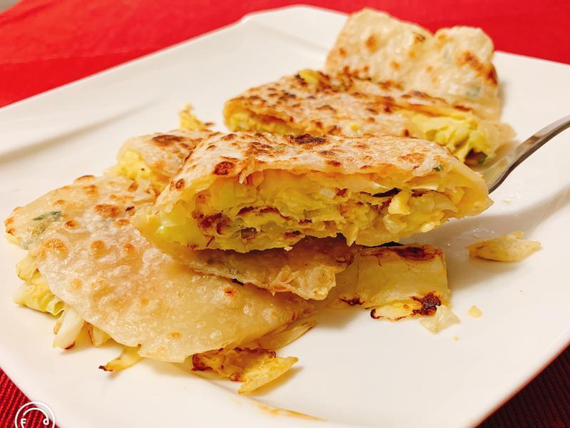 高麗菜蛋餅(蛋奶素/無肉料理)