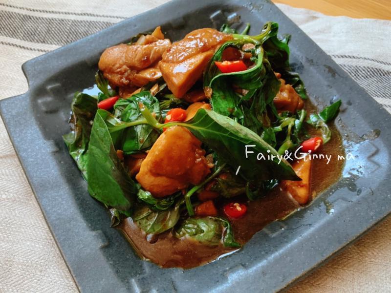 再來一碗飯~塔香燒雞(便當菜)