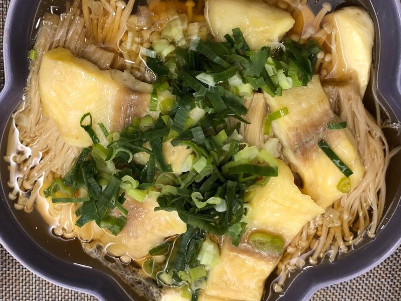 蒸鯛魚豆腐+金針菇