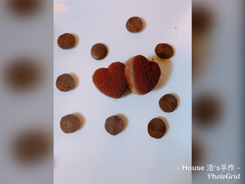 ❤️愛心焦糖生巧克力❤️