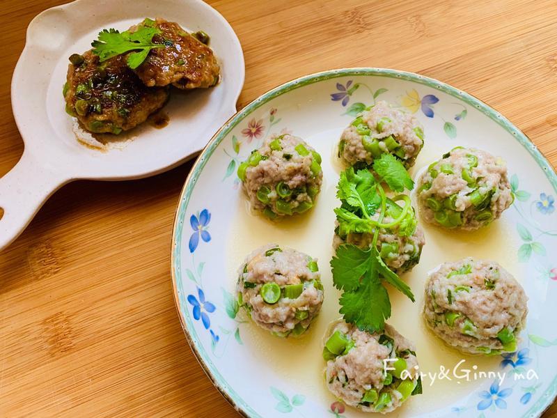 四季豆肉丸子雙拼(便當菜)