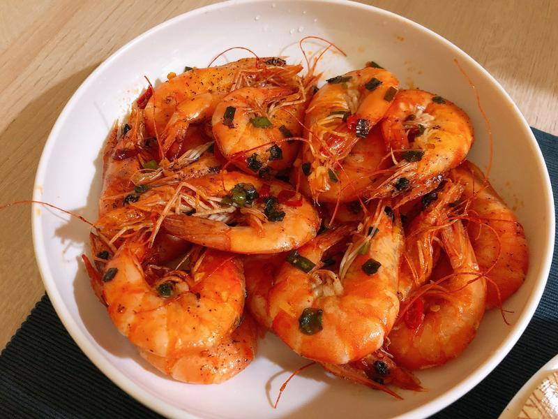 蔥爆椒鹽蝦