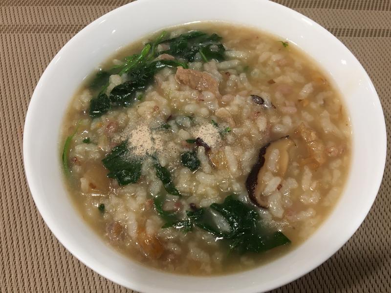 香菇龍葵粥