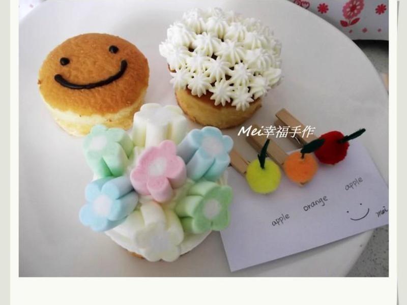 【杯子蛋糕簡單裝飾】