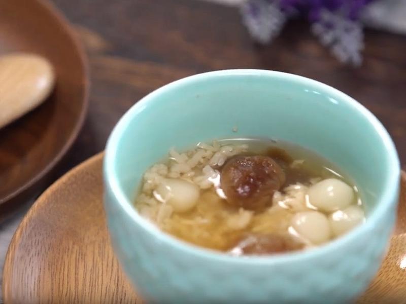 黑糖酒釀蛋湯圓